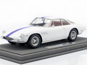 Ferrari 500 Superfast Series II year 1965 white with blue stripe 1:18 BBR