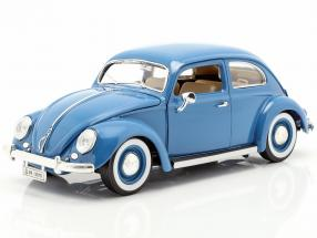 Volkswagen VW Beetle year 1955 blue 1:18 Bburago