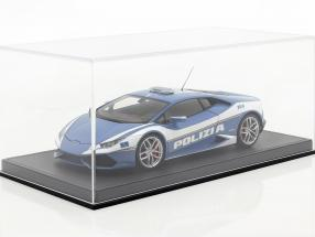 High-quality acrylic showcase for model cars in scale 1:18 black BBR