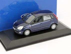 Ford Fiesta 5-door model 2001 dark blue 1:43 Minichamps