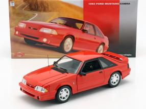 Ford Mustang Cobra year 1993 red 1:18 GMP