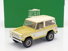 Ford Bronco Colorado Gold Rush 1976 gold / cream white 1:18 Greenlight