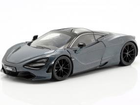Shaw's McLaren 720S Movie Fast & Furious Hobbs & Shaw (2019) grey metallic 1:24 Jada Toys