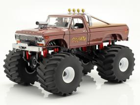 Ford F-250 Monster Truck Goliath year 1979 brown 1:18 Greenlight
