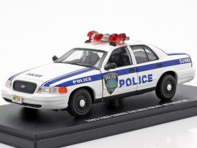 Ford Crown Victoria Police Interceptor 2003 white / blue 1:43 Greenlight