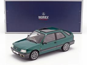 Peugeot 309 GTi RHD Goodwood year 1991 green metallic 1:18 Norev