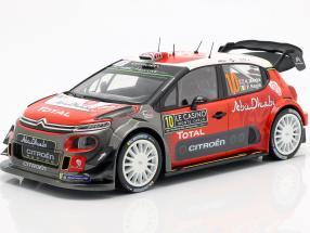 Citroen C3 WRC #10 4th Rallye Monte Carlo 2018 Meeke, Nagle 1:18 Norev