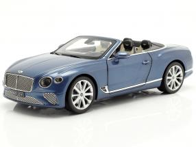 Bentley Continental GT Convertible year 2019 blue crystal metallic 1:18 Norev