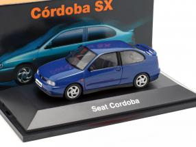 Seat Cordoba SX year 1996 dark blue metallic 1:43 Seat