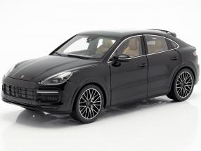 Porsche Cayenne Turbo Coupe 2019 deep black metallic With Showcase 1:18 Norev