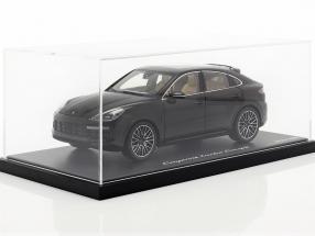 Porsche Cayenne Turbo Coupe 2019 deep black metallic With Showcase