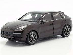 Porsche Cayenne Turbo Coupe 2019 mahogany brown metallic with showcase