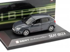 Seat Ibiza IV year 2008-2017 dark grey metallic 1:43 Seat