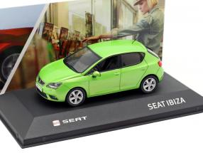 Seat Ibiza IV year 2008-2017 face green metallic 1:43 Seat