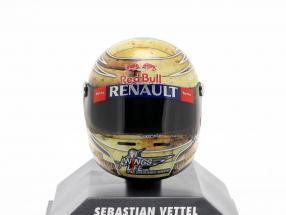 S. Vettel Red Bull RB8 Formula 1 World Champion 2012 GP Austin Texas Helmet 1:8 Minichamps
