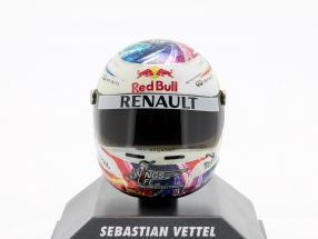 S. Vettel Red Bull GP Singapore Formula 1 Weltmeister 2011 Helmet 1:8 Minichamps