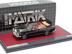 Mercedes-Benz 300SEL Landaulette Vatican City Open Top 1967 black 1:43 Matrix