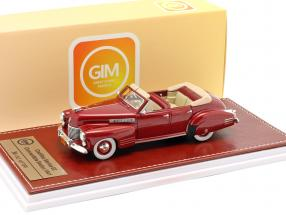 Cadillac Series 62 Convertible Sedan Open Top 1941 maroon metallic 1:43 Great Iconic Models