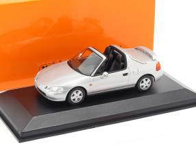 Honda CR-X del Sol year 1992 silver metallic 1:43 Minichamps