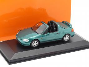 Honda CR-X del Sol year 1992 green metallic 1:43 Minichamps