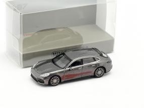 Porsche Panamera Turbo S E-hybrid Sport Turismo 2017 grey metallic 1:87 Minichamps