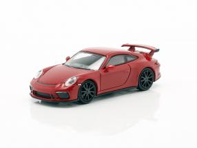 Porsche 911 GT3 year 2017 red 1:87 Minichamps