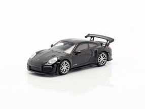 Porsche 911 GT2 RS year 2018 black / carboxylic 1:87 Minichamps