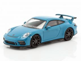 Porsche 911 GT3 year 2017 blue 1:87 Minichamps
