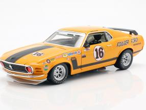 Ford Mustang Boss 302 #16 Trans Am Series 1970 George Follmer 1:18 GMP