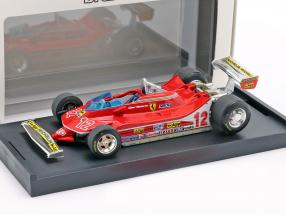 Gilles Villeneuve Ferrari 312T4 #12 2nd French GP formula 1 1979 1:43 Brumm