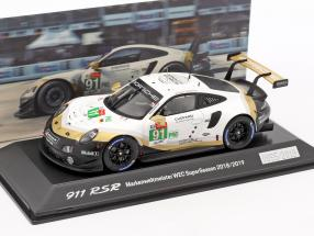 Porsche 911 RSR #91 Worldchampion WEC SuperSeason 2018/2019 24hLeMans 1:43 Spark