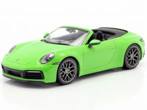 Porsche 911 (992) Carrera 4S Cabriolet year 2019 lizard green 1:18 Minichamps