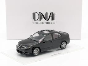 Saab 9-3 Turbo X limousine year 2008 deep black 1:18 DNA Collectibles
