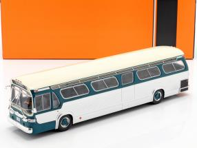 GMC Bus New Look Fishbowl year 1969 turquoise / silver 1:43 Ixo