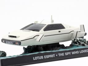Lotus Esprit James Bond Movie Car white The Spy Who Loved Me 1:43 Ixo