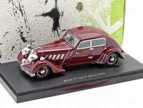 Röhr 8 Type F Streamline year 1932 dark red 1:43 AutoCult