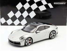 Porsche 911 (992) Carrera 4S year 2019 silver 1:18 Minichamps
