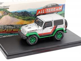 Jeep Wrangler Rubicon Bridgestone 2014 silver / black / green 1:43 Greenlight