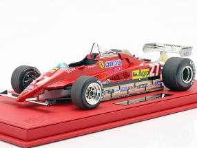 Gilles Villeneuve Ferrari 126 C2 #27 Belgium GP formula 1 1982 with showcase  BBR