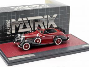 Mercedes-Benz 540K Roadster Lancefield Open Top 1938 red 1:43 Matrix