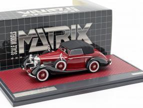 Mercedes-Benz 540K Roadster Lancefield Closed Top 1938 rot 1:43 Matrix