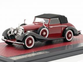Mercedes-Benz 540K Roadster Lancefield Closed Top 1938 red 1:43 Matrix