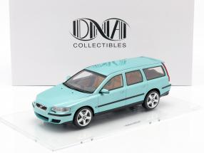 Volvo V70 R year 2003 blue green 1:18 DNA Collectibles