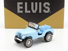 Jeep CJ-5 Elvis Presley 1935-1977 sierra blue 1:18 Greenlight