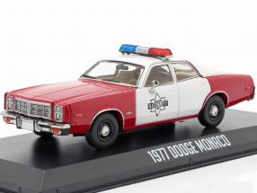 Dodge Monaco Finchburg County Sheriff 1977 red / white 1:43 Greenlight