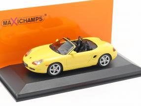 Porsche Boxster S Cabriolet year 1999 yellow 1:43 Minichamps