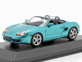 Porsche Boxster S Cabriolet year 1999 turquoise metallic 1:43 Minichamps