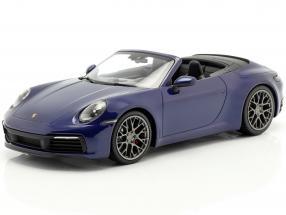 Porsche 911 (992) Carrera 4S Cabriolet 2019 blue metallic 1:18 Minichamps
