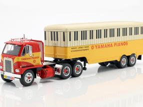 International Harvester DCOF-405 Yamaha Pianos year 1959 red / yellow 1:43 Ixo