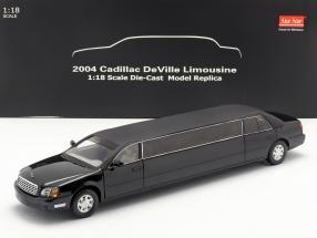 Cadillac DeVille Limousine year 2004 black 1:18 SunStar
